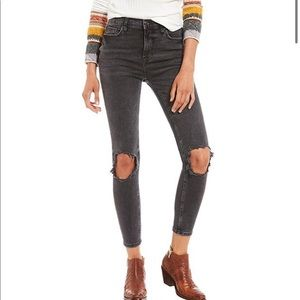 Free People 'We The Free Busted Skinny Jeans'